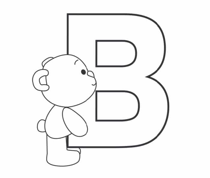 Printable Bubble Letters Teddy Bear Letter B