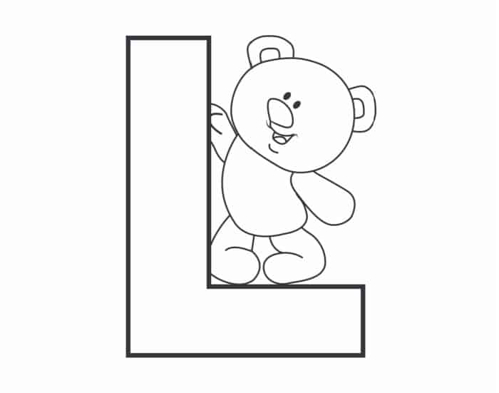 Printable Bubble Letters Teddy Bear Letter L