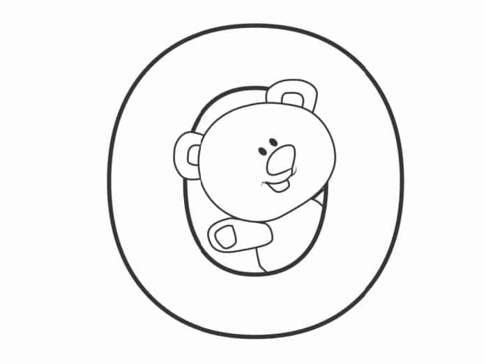 Printable Bubble Letters Teddy Bear Letter O