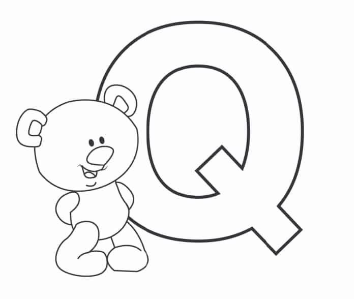 Printable Bubble Letters Teddy Bear Letter Q