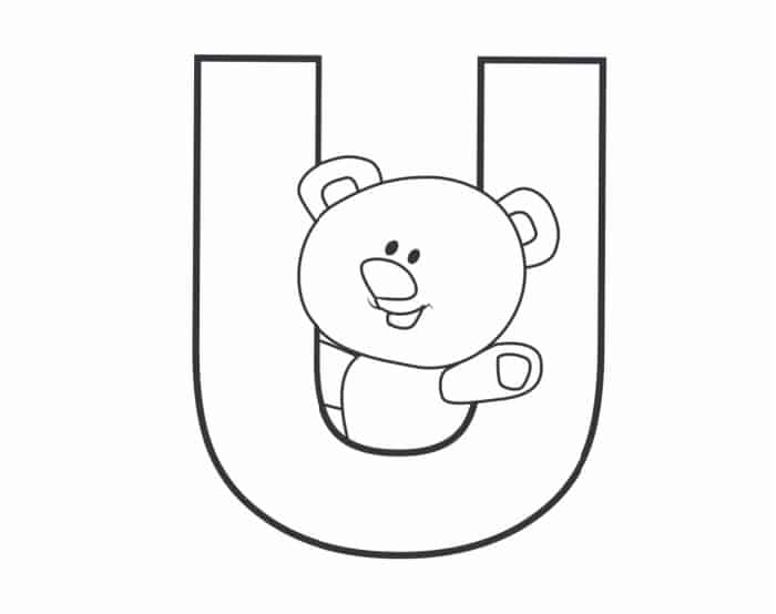 Printable Bubble Letters Teddy Bear Letter U