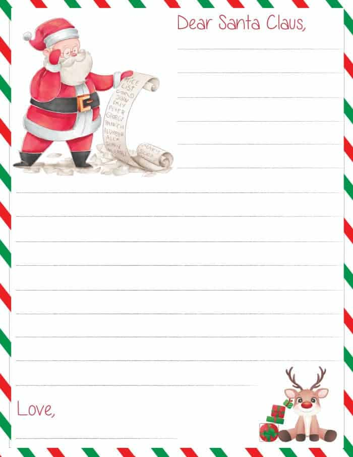 Santa letter template free download