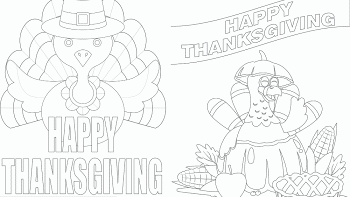 Thanksgiving coloring pages free downloads are great for kids and adults. After they are colored they make great printable Thanksgiving decorations