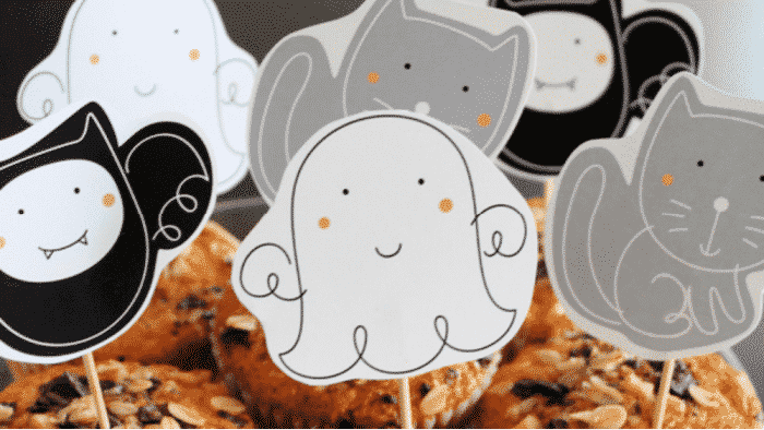 cupcake printables are fun free printables for Halloween crafts