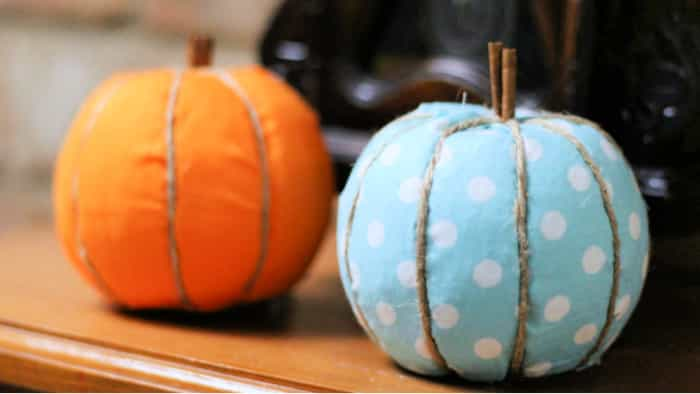 These DIY fall crafts for kids of pumpkins make beautiful fall décor ideas for your home