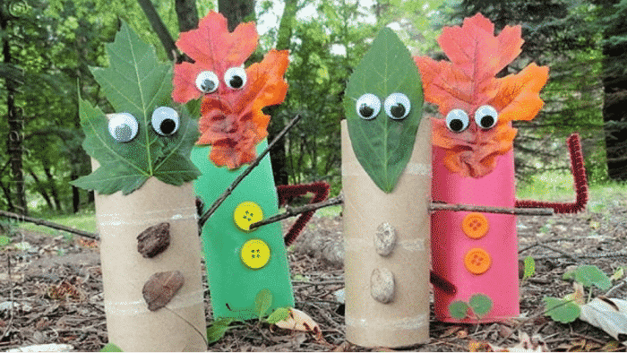 These fall craft ideas with leaves are so cute