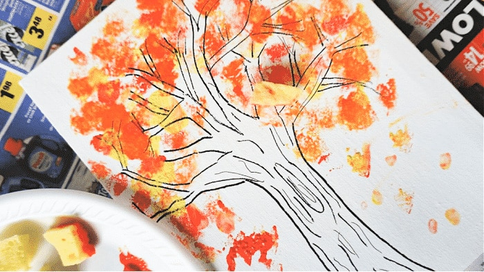 Celebrate beautiful fall colors with these fall crafts for toddlers of trees