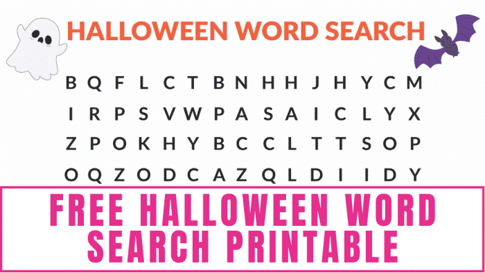 free Halloween word search printables are a fun and frugal way to keep the kids entertained and get them excited for the holiday