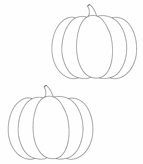 free preschool printables for Thanksgiving to color