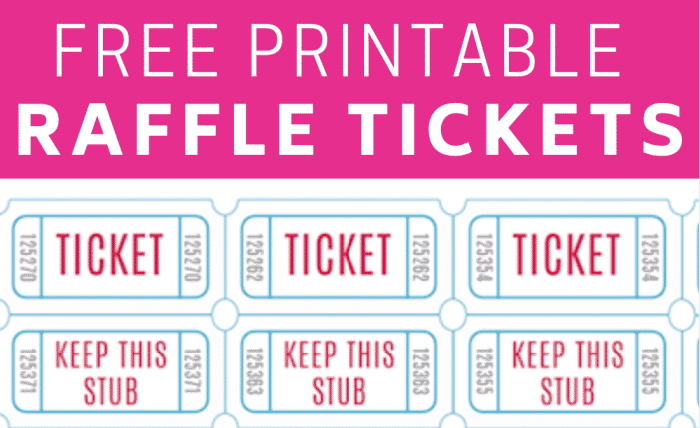 there are lots of ways to use free printable raffle tickets for kids' birthday parties, bridal showers, games, and more