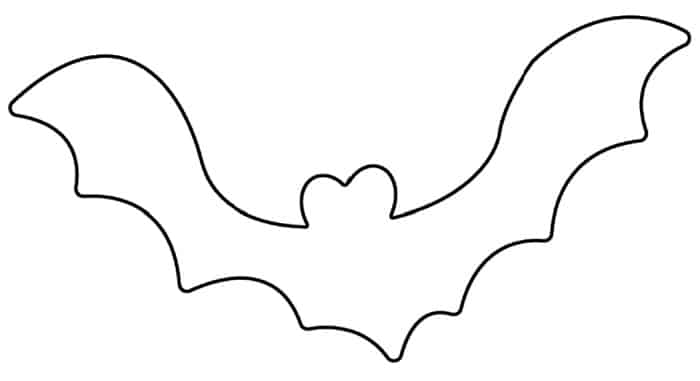 This bat makes for fun printable Halloween decorations. Bats like these are a fun and frugal way to decorate for the holiday.