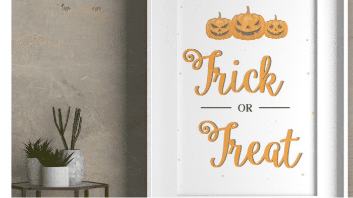 trick or treat sign for free Halloween decorations