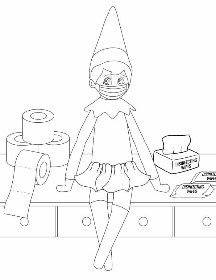 - 3 Elf On The Shelf Coloring Pages - Freebie Finding Mom