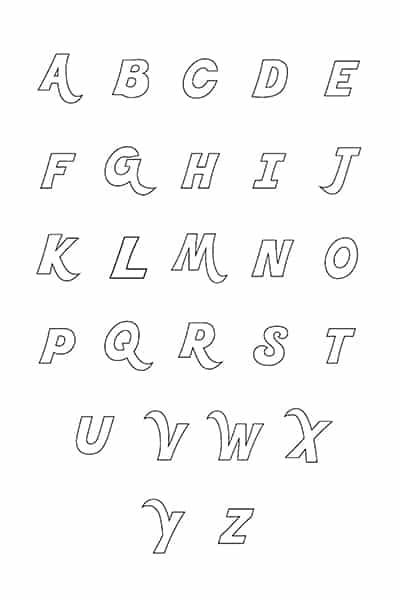 Free Printable Bubble Letters Fancy Letters Alphabet