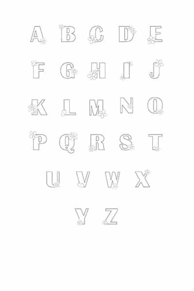 Free Printable Bubble Letters Flower Bubble Letters Alphabet