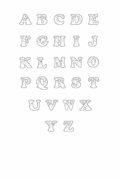 Free Printable Bubble Letters Outer Space Bubble Letters Alphabet
