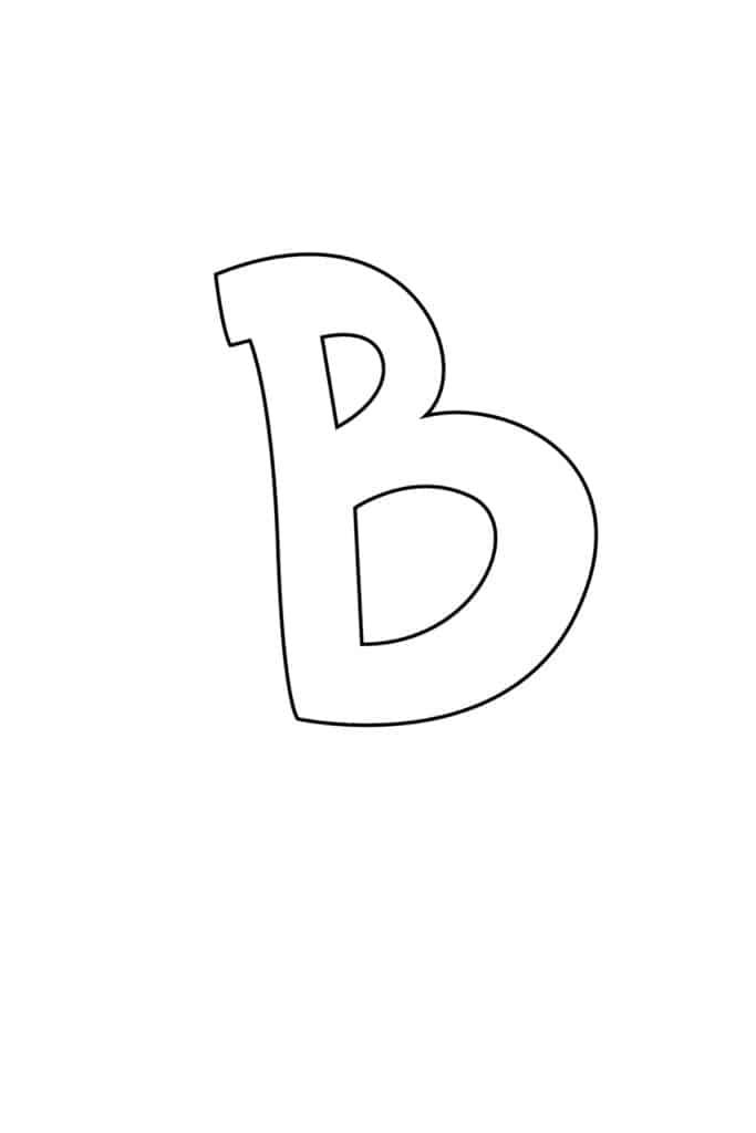Graffiti Bubble Letter B Printable