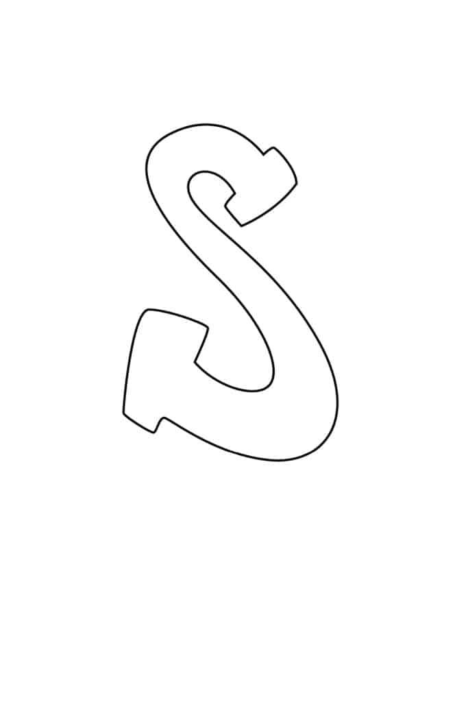 Graffiti Bubble Letter S Printable