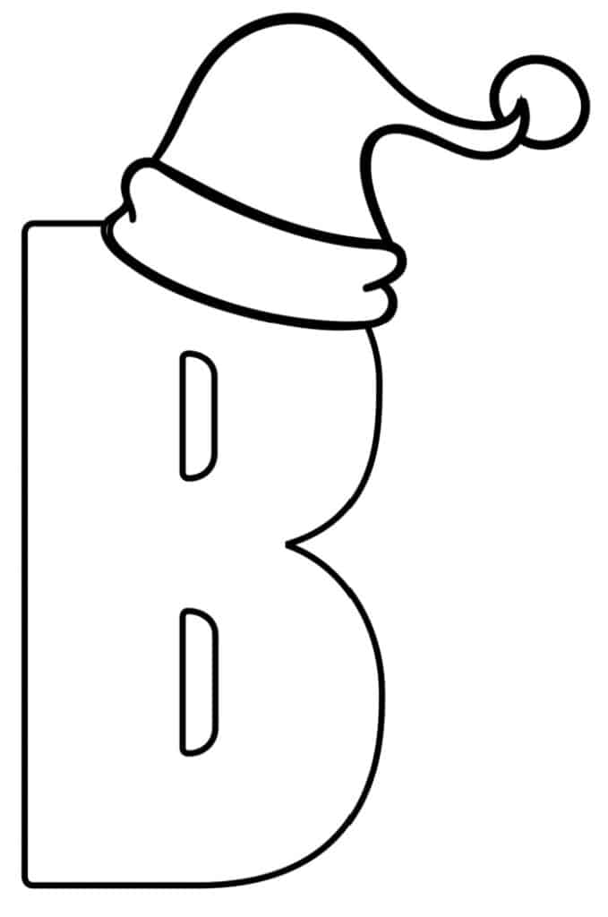 Printable Christmas Bubble Letter B