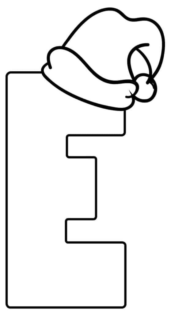 Printable Christmas Bubble Letter E