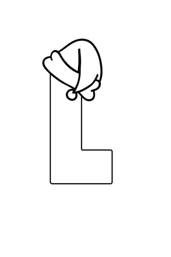 Printable Christmas Bubble Letter L