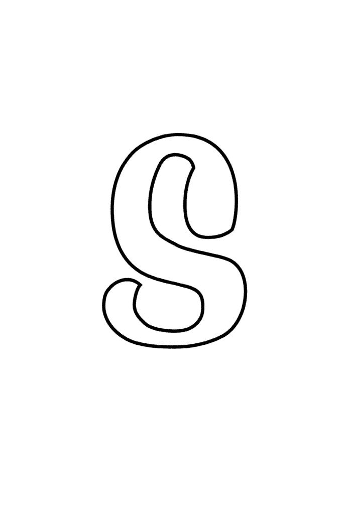 Printable Cursive Bubble Letter S