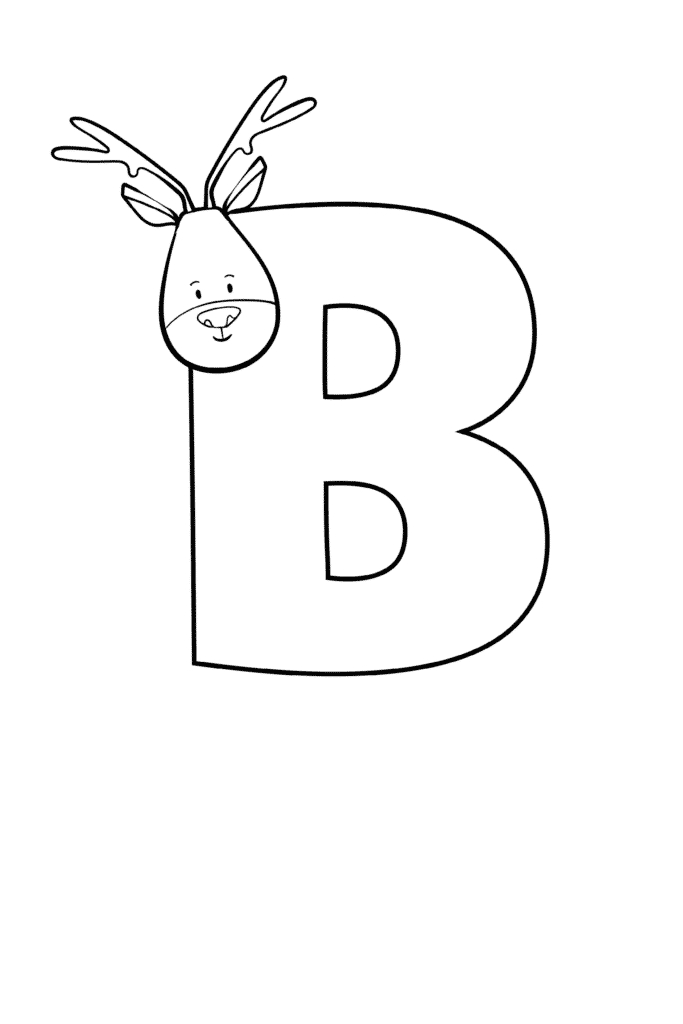 Printable Cute Bubble Letter B