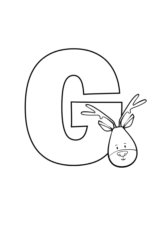 Printable Cute Bubble Letter G