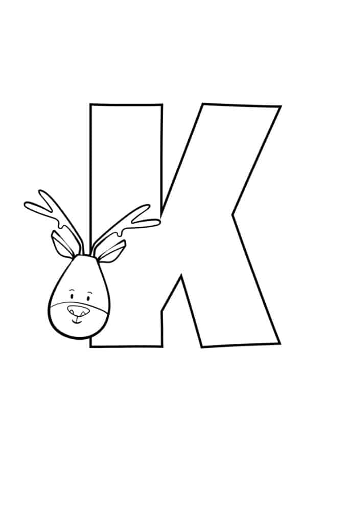 Printable Cute Bubble Letter K