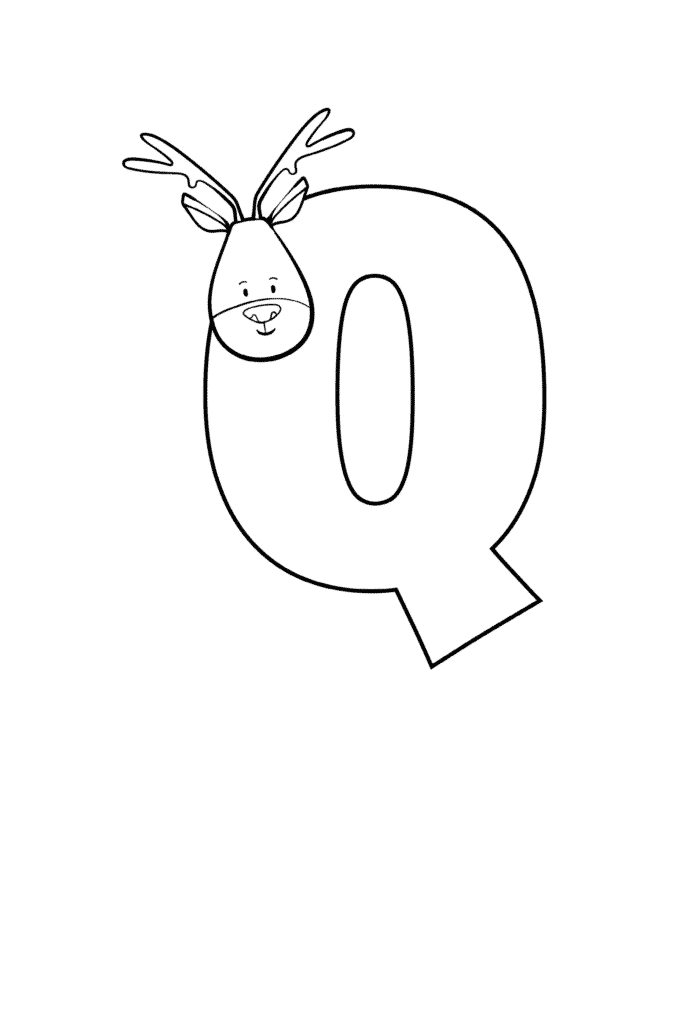Printable Cute Bubble Letter Q