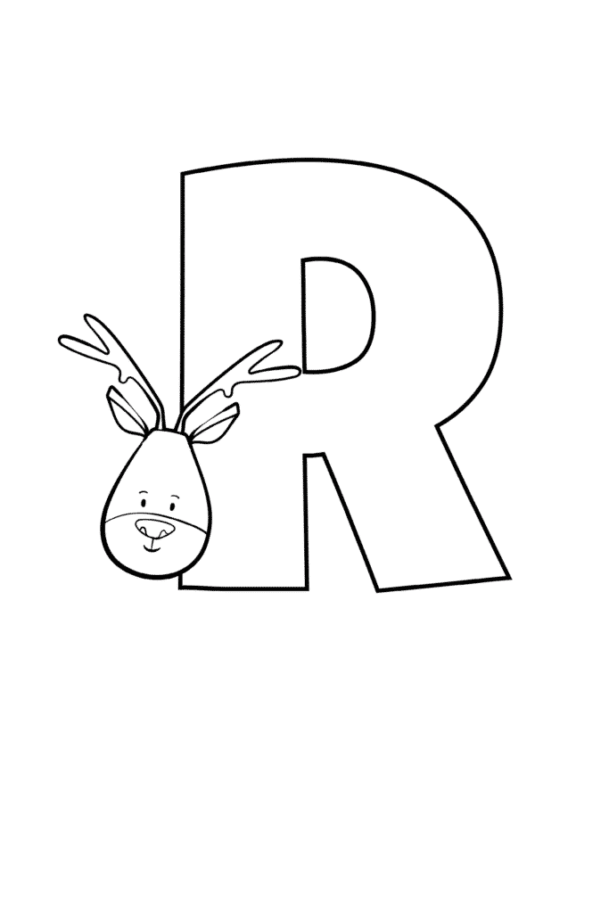 Printable Cute Bubble Letter R