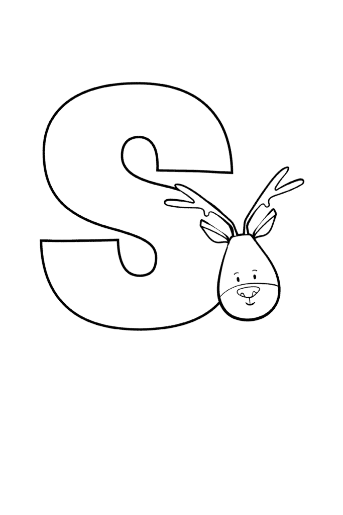 Printable Cute Bubble Letter S
