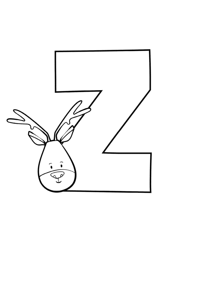 Printable Cute Bubble Letter Z