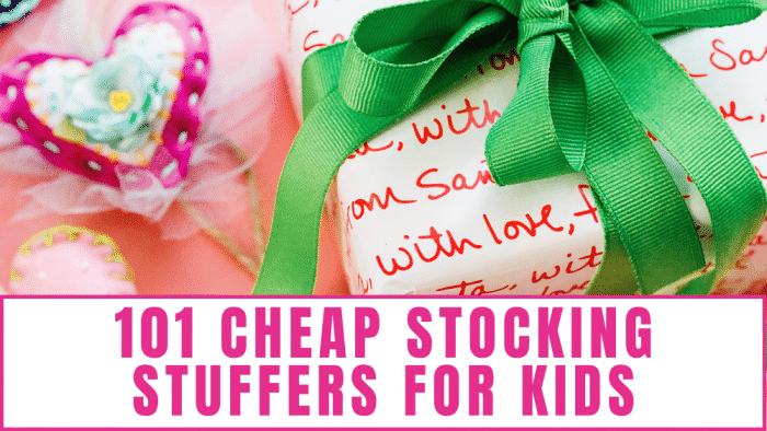 Need cheap stocking stuffers for kids? Here are 101 ideas—from stocking stuffers for 3 year olds to stocking stuffers for adult children!