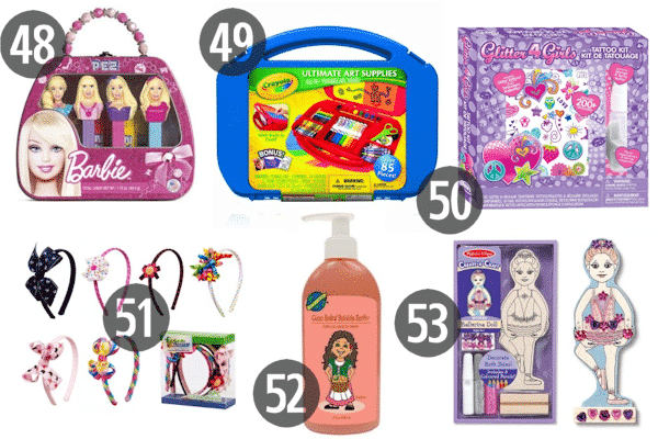 Cheap stocking stuffers for kids don't have to feel cheap; check out fun Pez dispensers, art supplies, and hair accessories