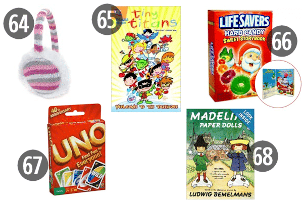 Some cheap stocking stuffers for kids, like card games like UNO and books, can bring the whole family together