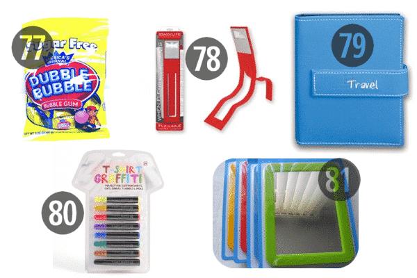 Frivolous items like bubble gum and t-shirt graffiti make fun and cheap stocking stuffers for kids