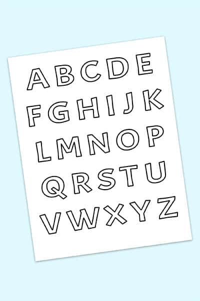 free printable bubble letters alphabet
