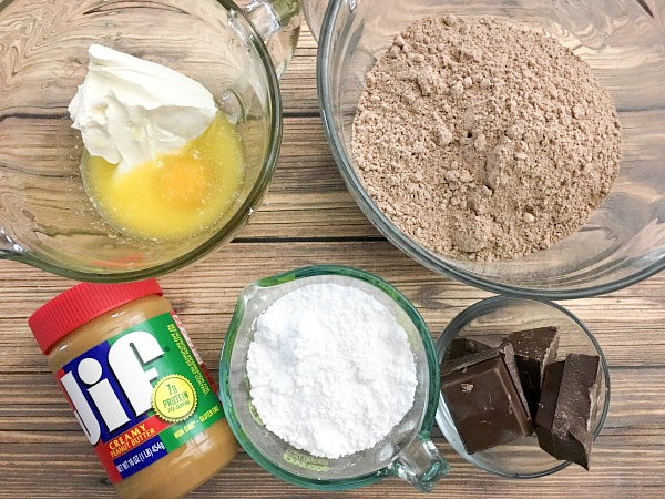 The best buckeye brownie recipe requires just 8 simple ingredients to pull off including peanut butter and chocolate