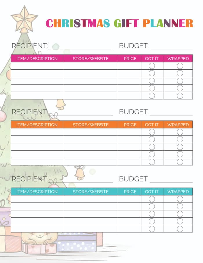 Use this festive printable Christmas shopping list template to stay organized during the stressful holiday season