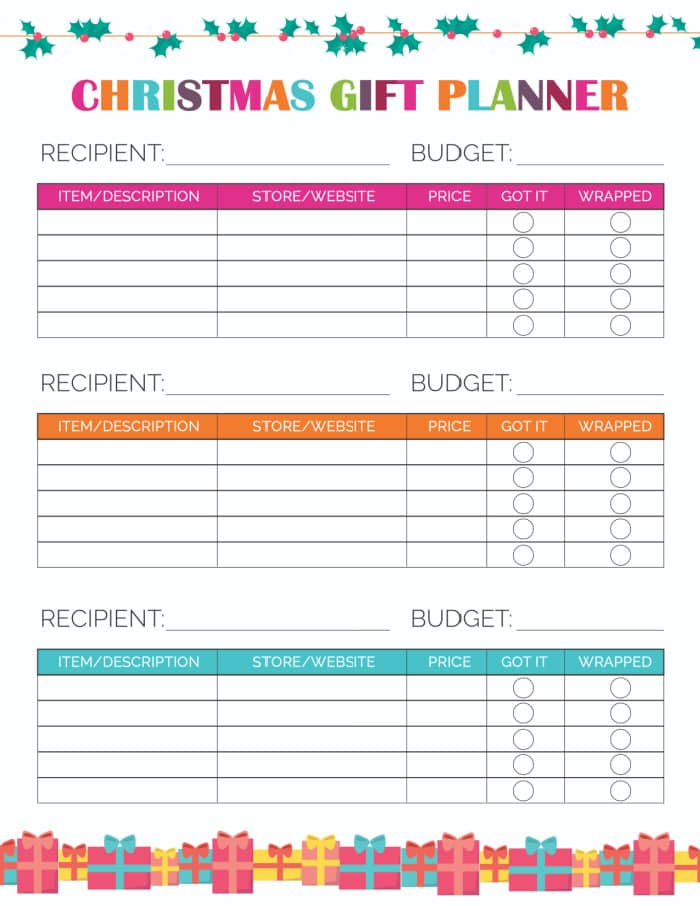 Turn to this simple printable Christmas shopping list when you're ready to get down to business and cross names off your list