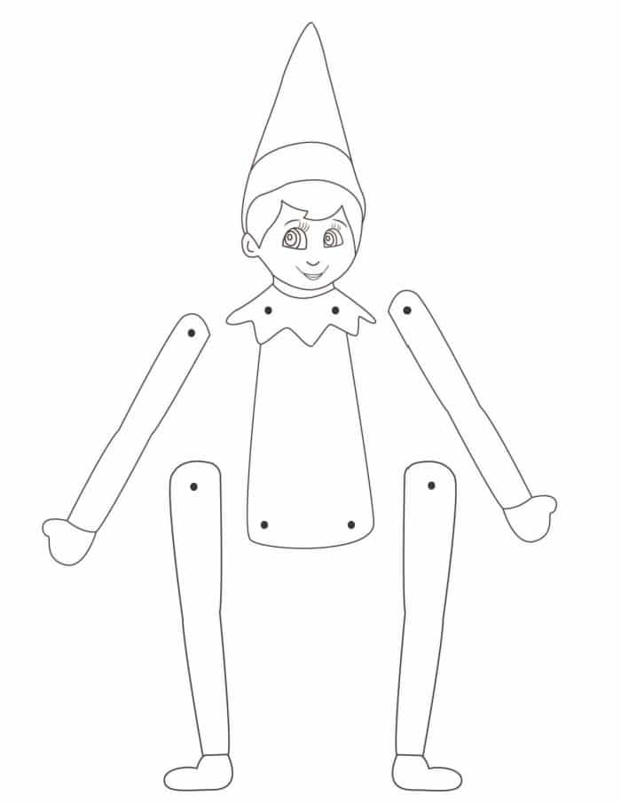 Make the fun last a little longer by opting for a printable elf on the shelf template that your kiddo can color