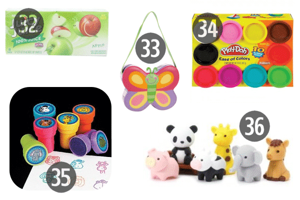 Ideas for stocking stuffers for 4 year olds include Play-Doh, cute bags like a butterfly purse, and art supplies like stamps