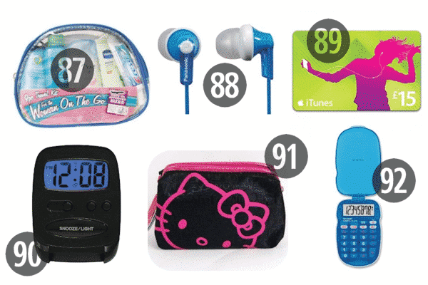 Need stocking stuffers for adult children or teens? Consider iTunes cards, headphones or earbuds, or travel kits