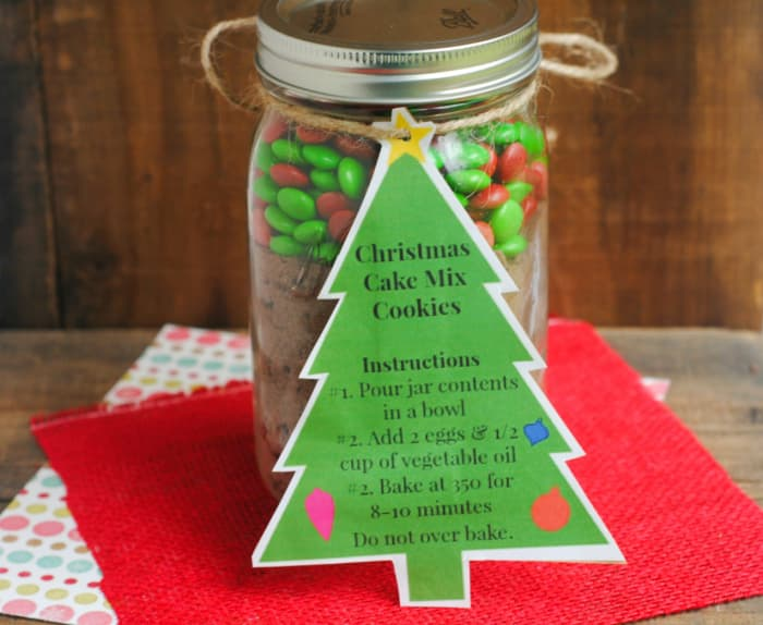 Christmas Mason jar cookie jar