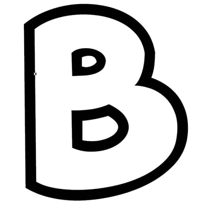 Free Printable Bubble Letter Stencils: Bubble Letter B Stencil
