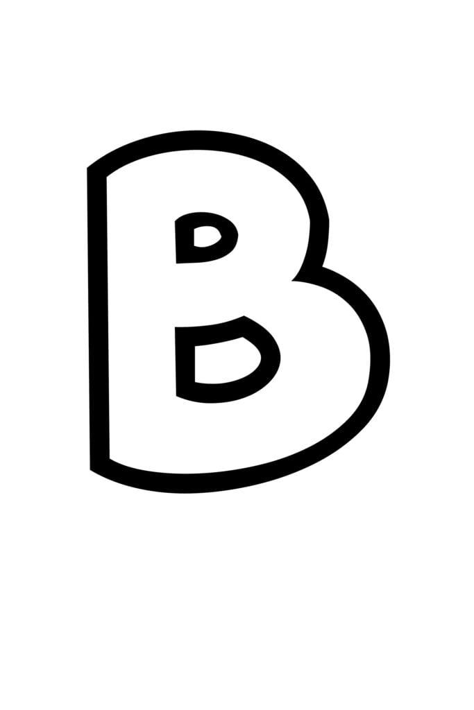 free printable bubble letter stencils bubble letter B stencil