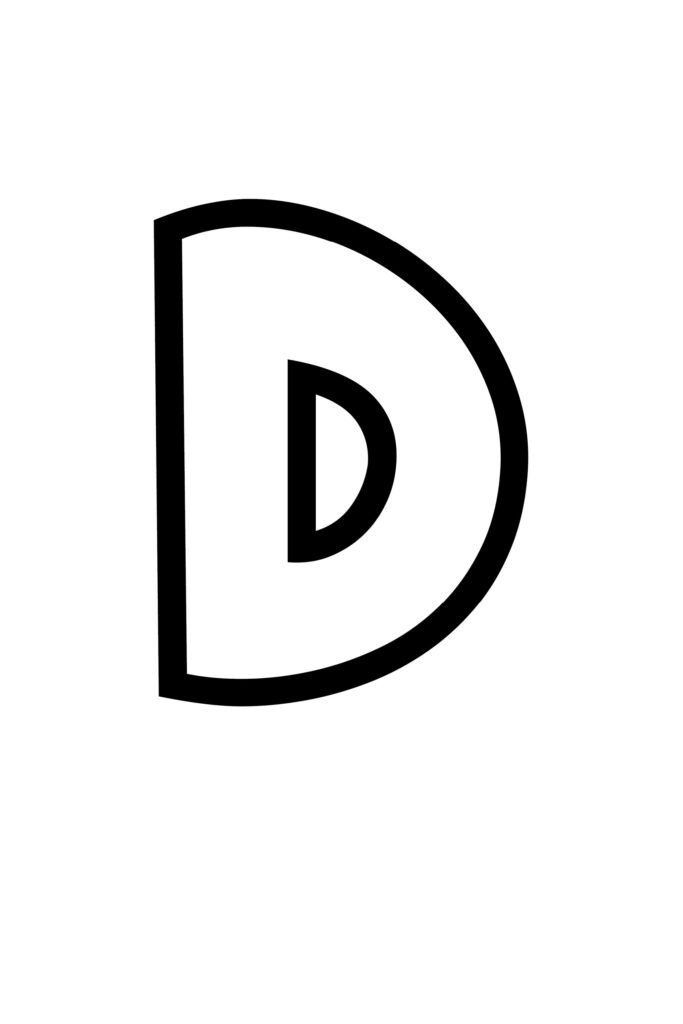 free printable bubble letter stencils bubble letter D stencil