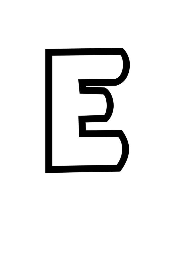 free printable bubble letter stencils bubble letter E stencil
