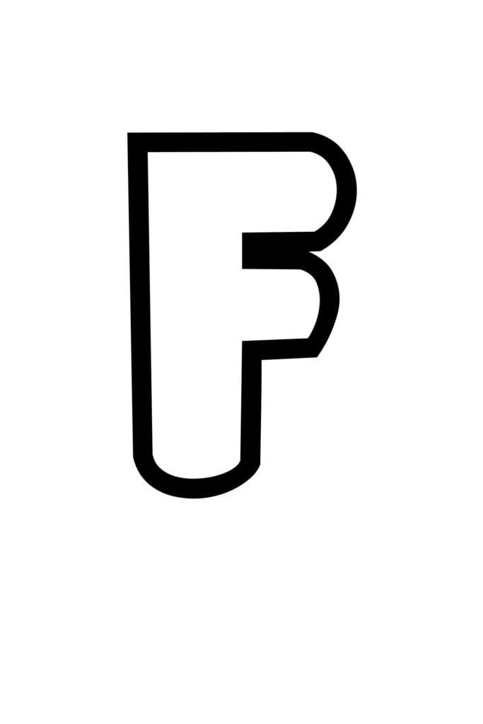 free printable bubble letter stencils bubble letter F stencil